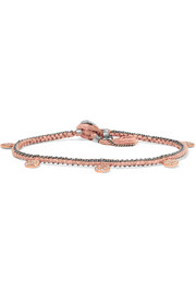 Brooke Gregson Coin 14-karat rose gold, silver and diamond bracelet