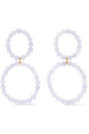 Holiday chalcedony earrings