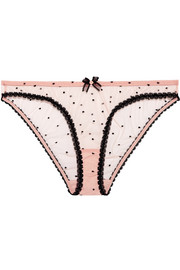 Agent Provocateur Poppie point d'esprit tulle briefs