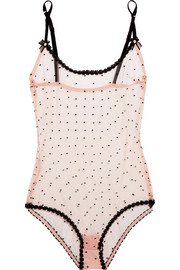 Agent Provocateur Poppie point d'esprit tulle bodysuit