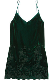 I.D. Sarrieri Nuits a Moscou embroidered velvet chemise