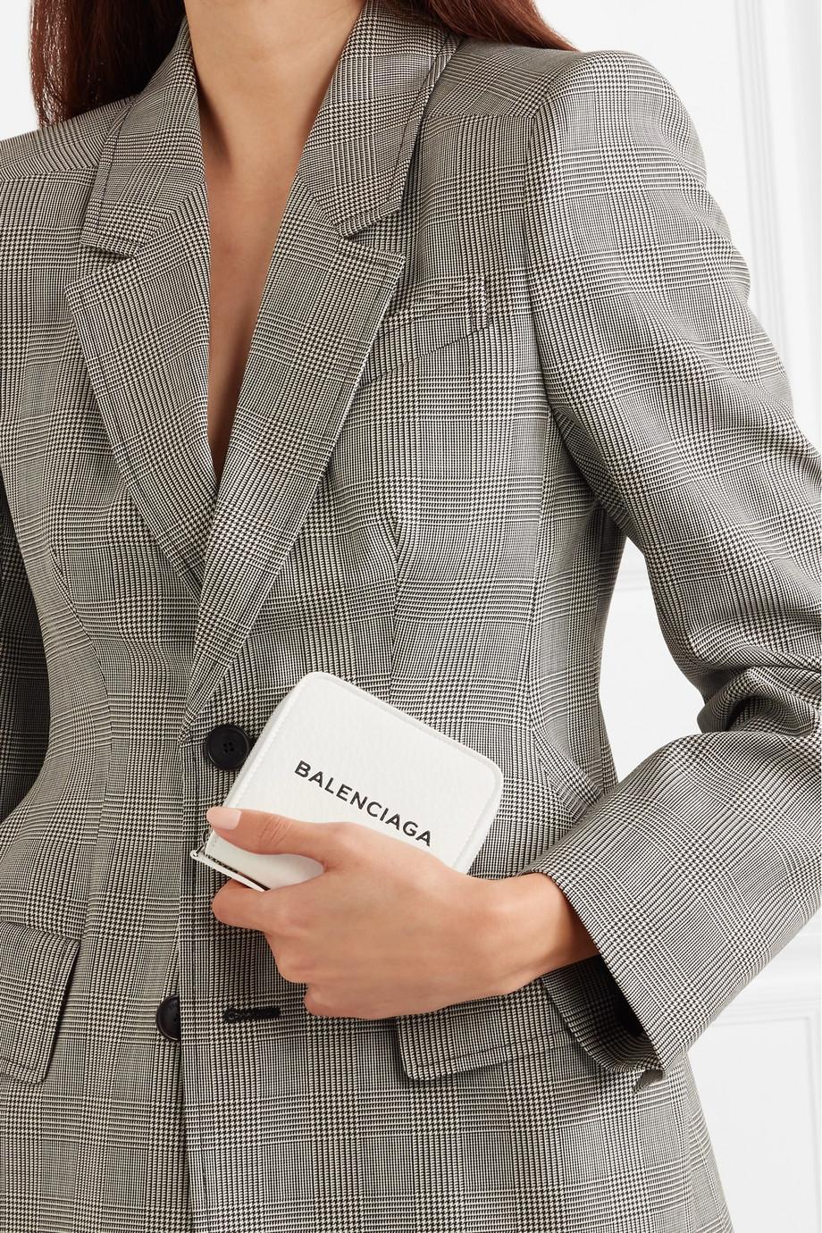 Balenciaga Printed textured-leather wallet