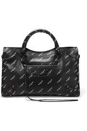 Classic City printed leather tote