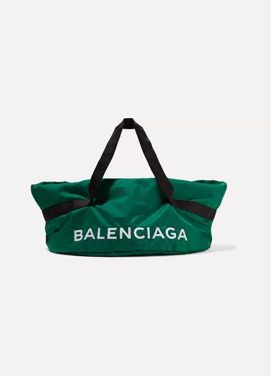 Balenciaga - Wheel Embroidered Shell Bag - Green at NET-A-PORTER
