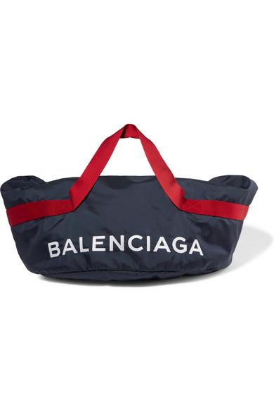 Balenciaga - Wheel Embroidered Shell Bag - Blue at NET-A-PORTER