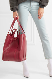 Laundry leather tote