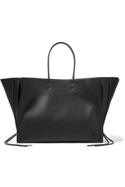 Paper ZA Blackout A4 textured-leather tote