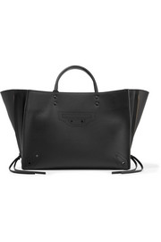Balenciaga Papier ZA Blackout A6 small perforated leather tote