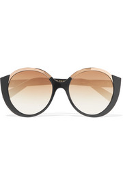 Cutler and Gross Round-frame acetate and gold-tone sunglasses