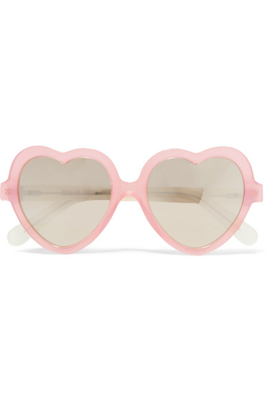 Cutler and Gross - Heart-frame Acetate Mirrored Sunglasses - Pink