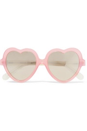 Cutler and Gross Heart-frame acetate mirrored sunglasses