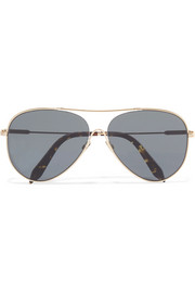 Victoria Beckham Loop aviator-style gold-tone sunglasses