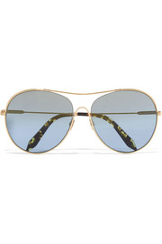 Loop Round gold-tone sunglasses