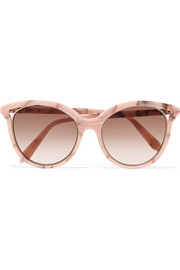 Cat-eye acetate sunglasses