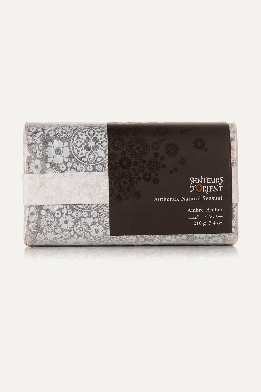 Senteurs d'Orient + NET SUSTAIN Rough Cut Bath Soap – Amber, 210 g – Badeseife