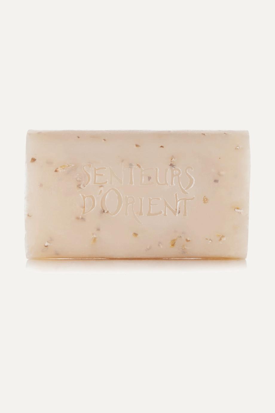 Senteurs d'Orient + NET SUSTAIN Rough Cut Bath Soap - Almond Exfoliant, 210g