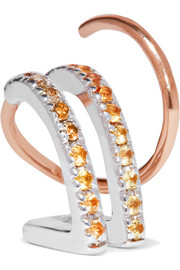 Maria Black Bess 14-karat rose gold, diamond and sapphire earring