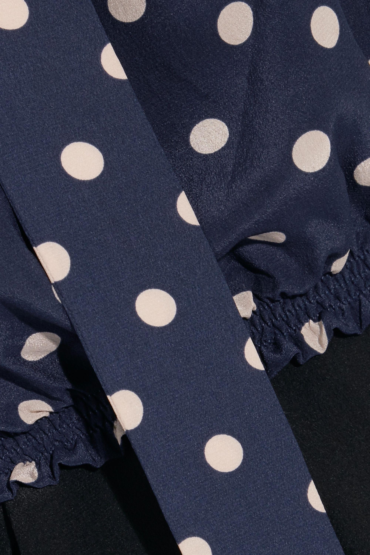 Balenciaga Polka-dot silk crepe de chine blouse
