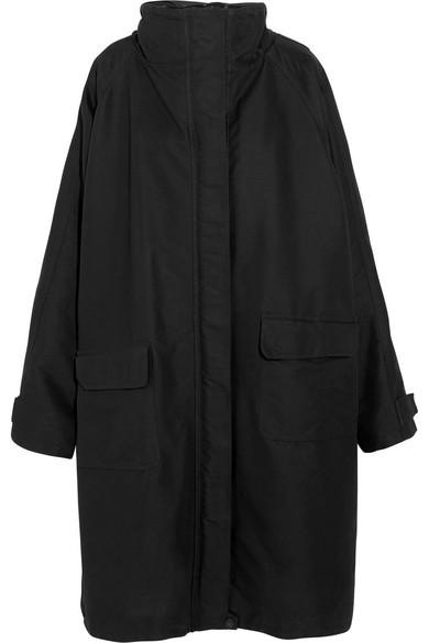 Balenciaga - Oversized Canvas Raincoat - Black at NET-A-PORTER