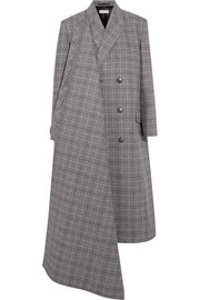 Prince of Wales checked wool coat