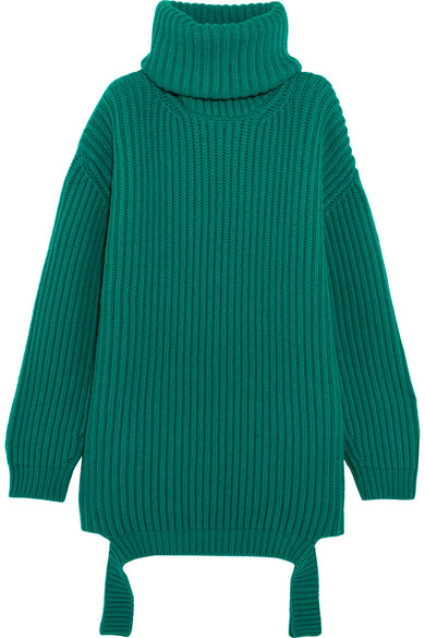 7585c1bc82 Balenciaga. Oversized ribbed wool turtleneck sweater