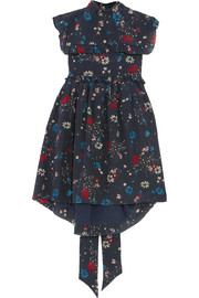 Baby Doll floral-print silk crepe de chine mini dress