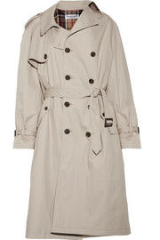 Pulled oversized cotton-twill trench coat