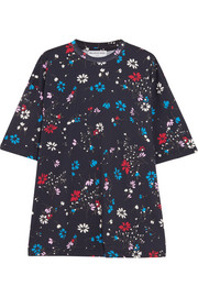 Oversized floral-print cotton-jersey T-shirt