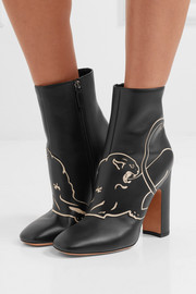 Valentino Panther leather ankle boots