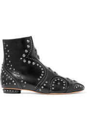 Valentino Pebbles embellished leather ankle boots
