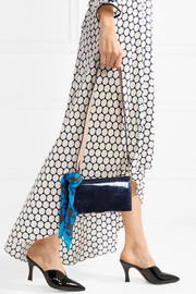 Diane von Furstenberg Soirée sequined leather shoulder bag
