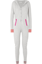 Hooded cashmere onesie
