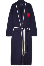 Chinti and Parker Heart intarsia cashmere robe