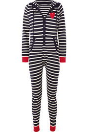Striped cashmere onesie