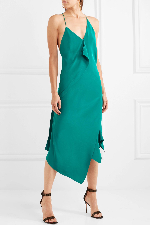 Roland Mouret Jimboy asymmetric silk midi dress