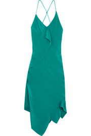 Roland Mouret Jimboy asymmetric silk midi dress