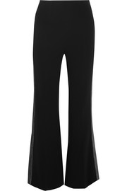 Willow Lurex-trimmed stretch-crepe flared pants