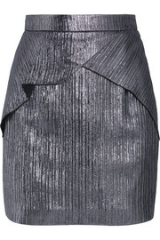 Roland Mouret Rocko metallic Lurex mini skirt