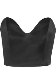 Andros silk-satin bustier top