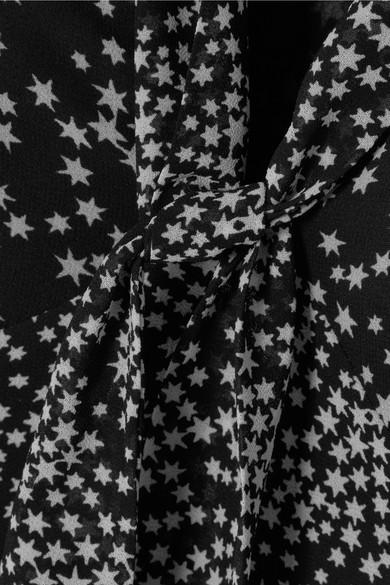 MICHAEL Michael Kors Bedrucktes Minikleid aus Chiffon mit Schluppe Footlocker Zum Verkauf 6sDh7sQA
