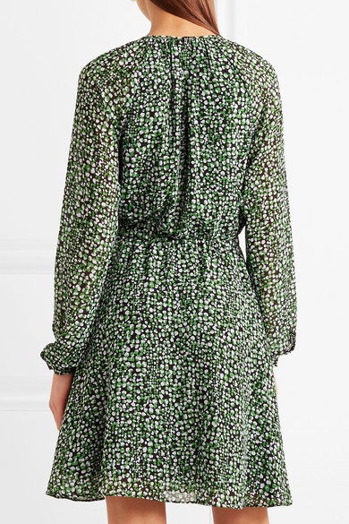 MICHAEL Michael Kors Kleid aus bedrucktem Chiffon Preise Und Verfügbarkeit Günstiger Preis Verkauf Kauf Freies Verschiffen Neue Zk7BKXRiXy