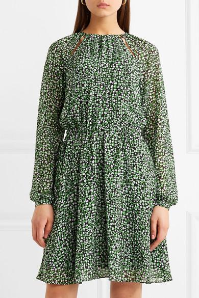 MICHAEL Michael Kors Kleid aus bedrucktem Chiffon Verkauf Kauf iGtm7p3Jh