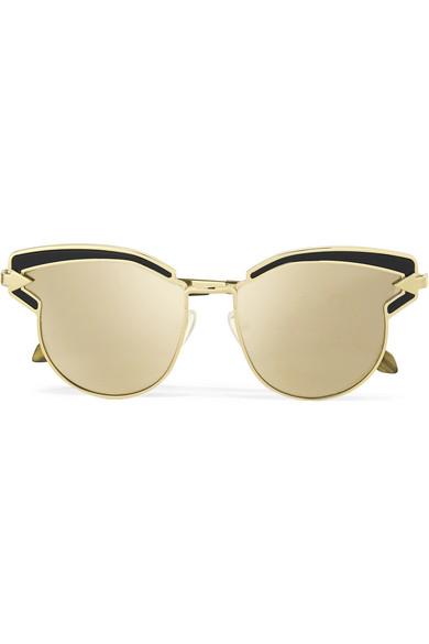 7469e8a0c10d Karen Walker. Superstars Felipe cat-eye gold-tone mirrored sunglasses