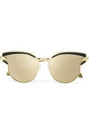 Superstars Felipe cat-eye gold-tone mirrored sunglasses