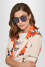 Superstars Simone aviator-style metal sunglasses