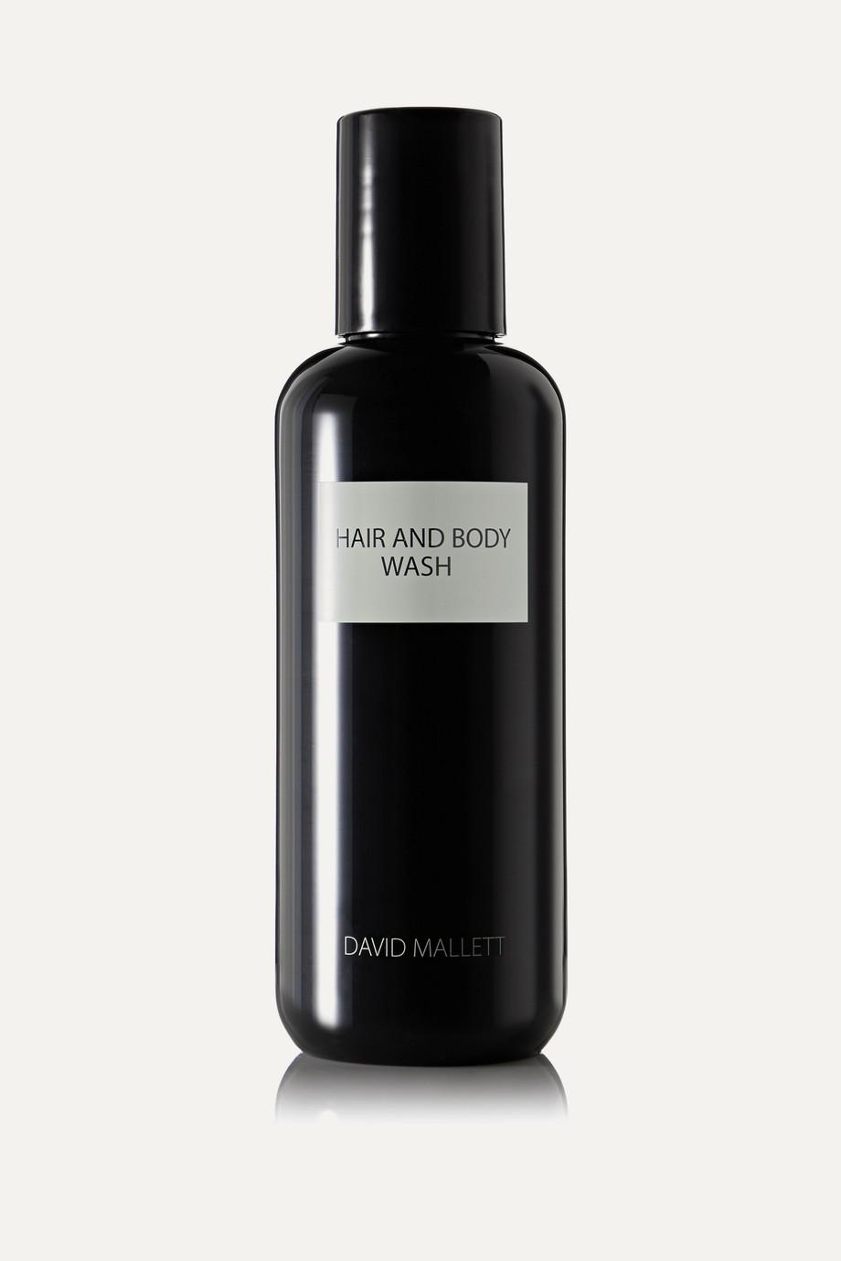 David Mallett Hair & Body Wash, 250 ml – 2-in-1 Shampoo und Duschgel