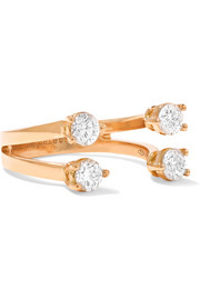 18-karat rose gold diamond phalanx ring