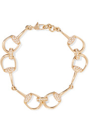 18-karat gold diamond horsebit bracelet