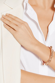 Gucci 18-karat rose gold bamboo bangle