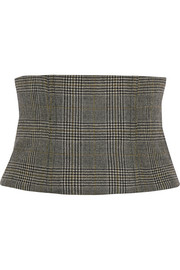 Chester checked wool corset